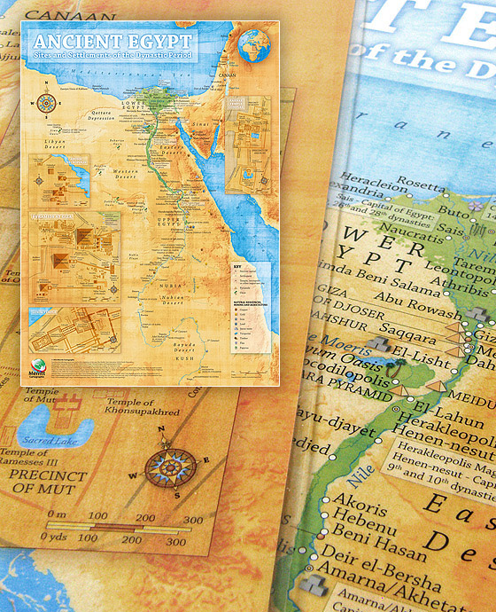 Ancient Egypt Map Poster (Encapsulated)