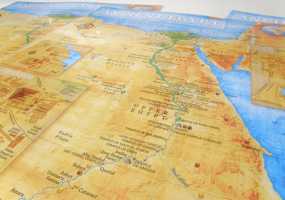 Ancient Egypt Map Illustrative Overview Map Highlighting The - Ancient egypt map
