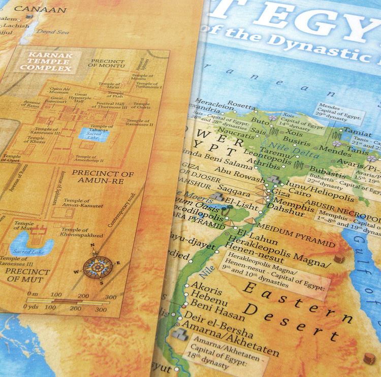 Ancient Egypt Map Illustrative Overview Map Highlighting The - Egypt interactive map