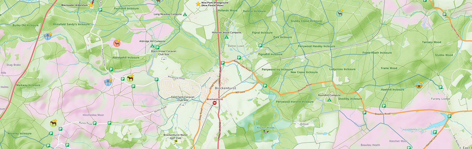 An interactive tourist and visitor map for the New Forest