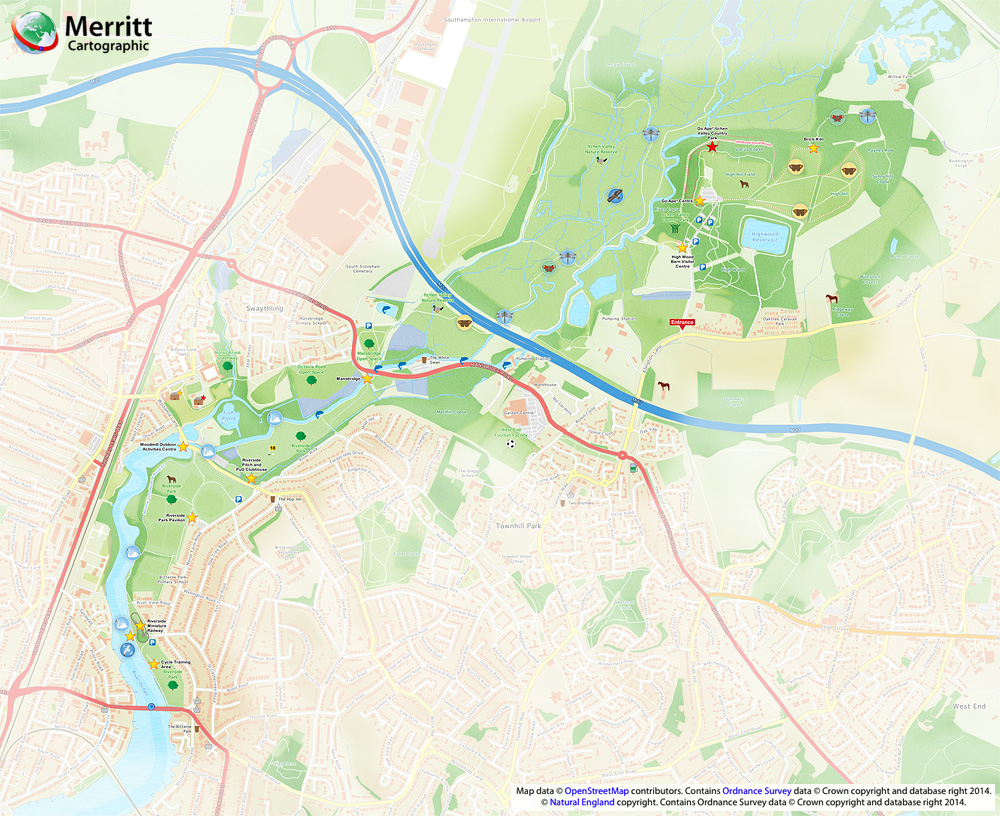 Itchen valley country park map riverside park - Valley memorial gardens mission tx ...