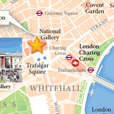 London Visitor Attractions A map highlighting Londons most