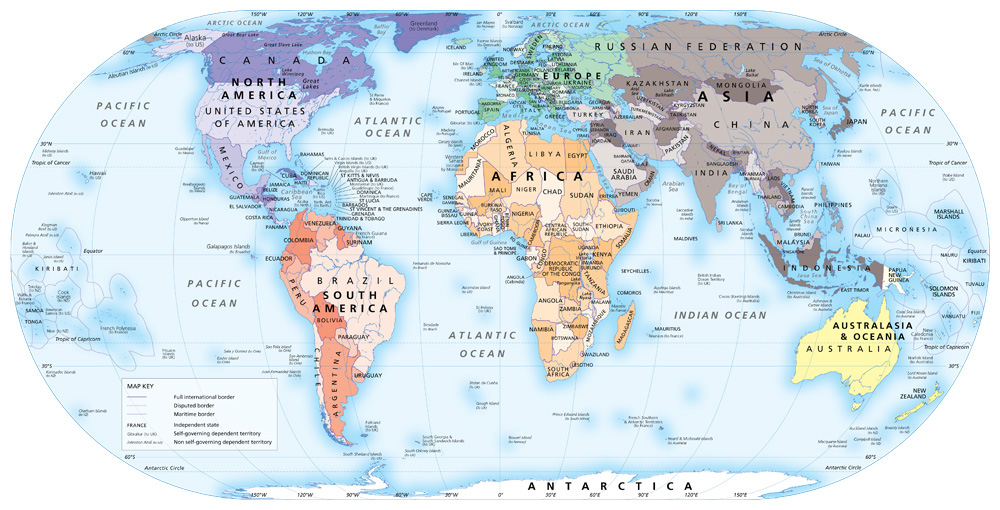 Political world map a reference map showing the worlds countries the political world gumiabroncs Images