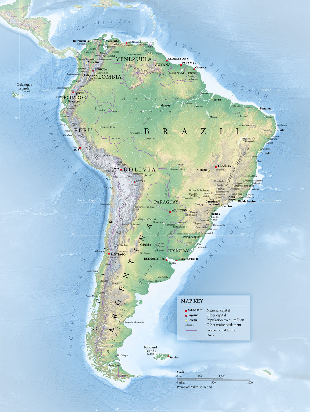 South America Map An illustrative overview South
